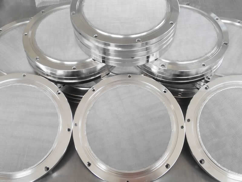 Sintered Mesh Discs Use In Chromatographic Column